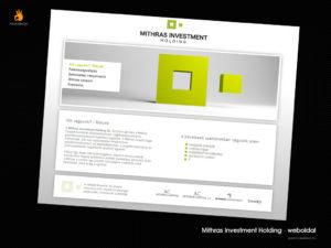 Mithras Investment Holding - weblaptervezés