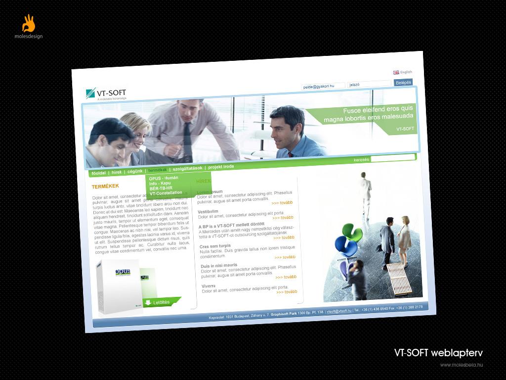 VT-soft - weblaptervezés