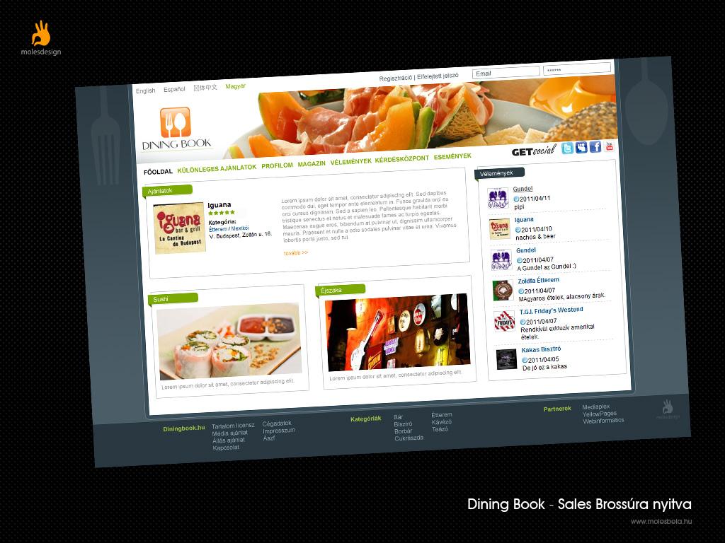 Dining Book - weblaptervezés