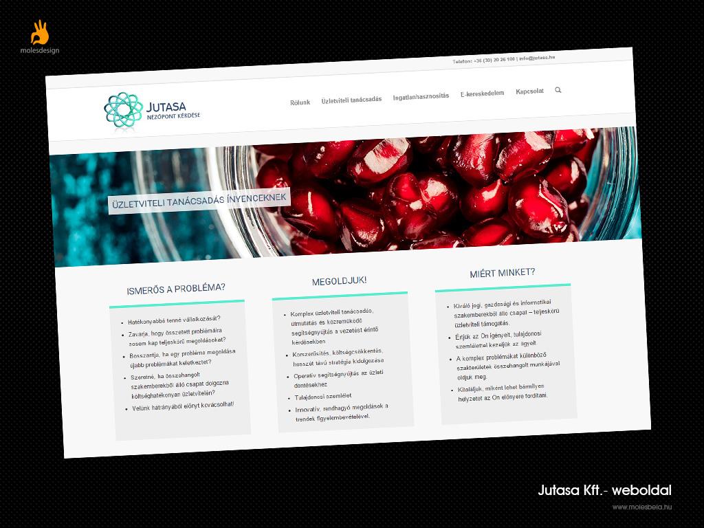 Jutasa.hu - weboldaltervezés