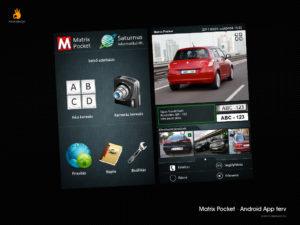 Matrix Pocket - Rendszámfelismerő applikáció design