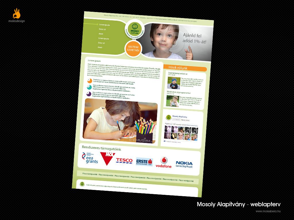 Mosoly Alapítvány - weblaptervezés