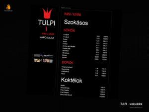 Tulpi - weblaptervezés