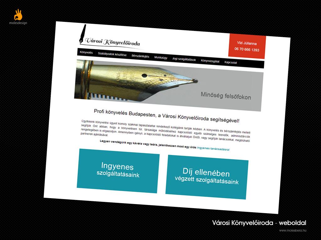 Városi Könyvelőiroda - weblaptervezés