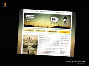 Városi Taxi - weblaptervezés