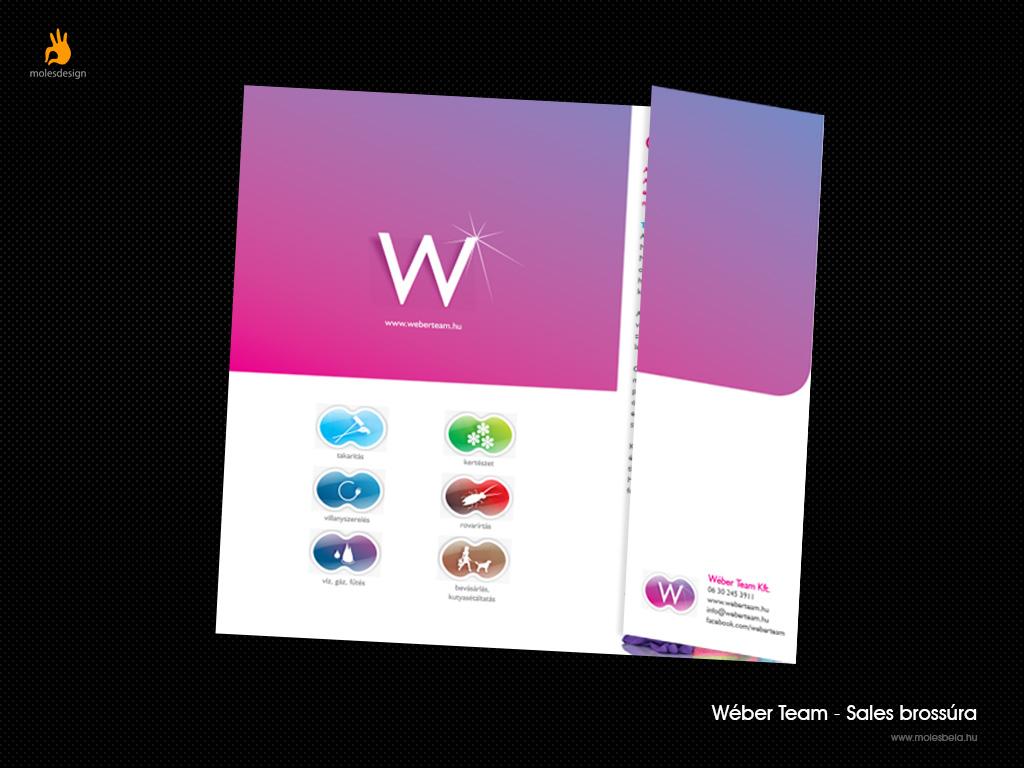 Wéber Team - sales brossúra